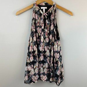 Leith Floral Pleated Tank XS